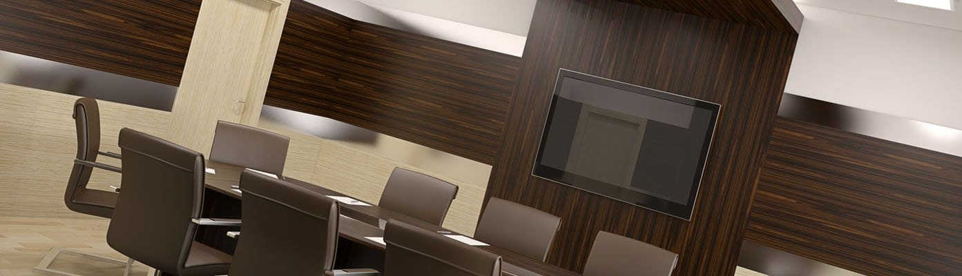 Conference room inerior. & Why Choose Us - Enfield Doors
