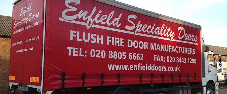 Enfield-Doors-Lorry & A Look Back at Leaderflush   Enfield Doors
